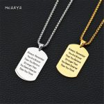 MCSAYS Hip Hop <b>Jewelry</b> Brave Smart Military Dog Tag Pendant Stainless Steel Necklace Men's Fashion <b>Accessories</b> Best Gifts 2HP