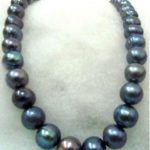 -new Style- -hot >>>>>HUGE 11-12mm black TAHITIAN pearl <b>necklace</b> 17inch