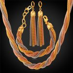Multi Layer <b>Necklace</b> <b>Jewelry</b> Sets With Gift Box Trendy 3 Color Mesh Chain New <b>Necklaces</b> Bracelets Earrings For Women NEH318