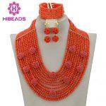 Marvelous African Pink Coral Beads <b>Jewelry</b> Set Pretty Flowers <b>Handmade</b> Nigerian Wedding Coral <b>Jewelry</b> Set Free Shipping CNR318