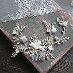 Dower me Flower Silver Bridal Hair Comb <b>Jewelry</b> <b>Wedding</b> Party Headbands Bride Vintage Hairwear <b>Jewelry</b> Accessories