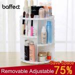 <b>Fashion</b> 360-degree Rotating Makeup Organizer Box Adjustable Storage Holder <b>Jewelry</b> Makeup Lipstick Brush Cosmetic Storage Box