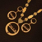 Anniyo Chuuk Beads Pendant Necklaces Earrings sets Gold Color Ball Jewellery Trendy Islands Gifts #128306