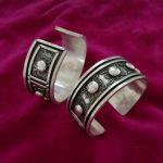 Ethnic style Miao ethnic jewelry handmade Miao <b>silver</b> <b>bracelet</b> Traditional silk thick <b>bracelet</b>