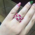 Trendy Luxurious big Row geometry Natural red ruby Ring Natural gemstone Ring S925 <b>sterling</b> <b>silver</b> women party girl gift <b>Jewelry</b>