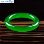 Wholesale Ice Green Quartz Natural Stone Bangles Lucky for Women Girl Gift Bracelet Fashion <b>Jewelry</b> <b>Accessories</b> JoursNeige