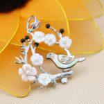 42*44mm Accessories Series Bird&Tree Ethnic Chic sweetheart Natural Abalone seashells sea shells pendants <b>making</b> <b>jewelry</b> crafts