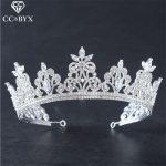CC <b>Jewelry</b> crowns tiaras bride crystal luxury wedding hair accessories for women party bridesmaids <b>handmade</b> bijoux brand HG773