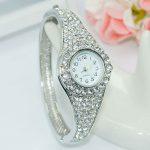 Hot Sale Famous Brand Bling Watch Women Luxury Crystal Watch Rose Gold <b>Silver</b> Shinning Full Diomand Rhinestone Bangle <b>Bracelet</b>