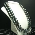 Wholesale price 16new ^^^^32 INCH HUGE AAA 10-11 MM TAHITIAN BLACK PEARL <b>NECKLACE</b>