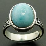 New Arrival Natural Larimar Ring 100% 925 Sterling <b>Silver</b> <b>Jewelry</b> Oval Larimar Stone Wedding Rings Women Adjustable Rings Size