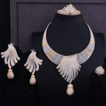 GODKI Luxury Feather Lariat Flower Women Wedding Cubic Zirconia Choker <b>Necklace</b> Earring Dubai <b>Jewelry</b> Set Jewellery Addict