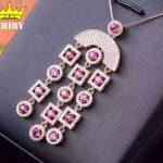 100% Natural garnet gem pendant Genuine solid 925 <b>sterling</b> <b>silver</b> Women stone <b>jewelry</b> luxury noble