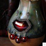 S925 sterling <b>silver</b> Thai <b>silver</b> pendants sterling <b>silver</b> garnet / opal <b>necklace</b> pendant retro female clavicle pendant
