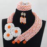Orange Crystal Wedding African Beads <b>Jewelry</b> Sets Fashion Indian <b>Handmade</b> <b>Jewelry</b> Bridemaid <b>Jewelry</b> Sets Free Shipping ABH014