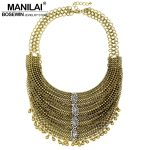 MANILAI Latest Rhinestone Vintage Big Necklaces Women Handmade Exaggerated Chokers Crystal Statement Fashion <b>Jewelry</b> <b>Accessories</b>