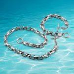 925 sterling <b>silver</b> necklace <b>bracelet</b>, men's necklace sets, wide edition thick <b>bracelet</b> necklace, square Jewelry Sets