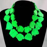 Elegant Choker Woman <b>Jewelry</b> Bling Green stone Slice Necklace <b>Handmade</b> Gift Exaggerate Woman <b>jewelry</b> Charm
