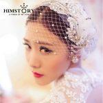 New Arrival Luxury <b>Handmade</b> Crystal Pearl Lace Flower Bridal Head Rhinestone Wedding Hair Accessories Bride Ornament <b>Jewelry</b>