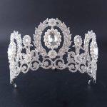 Luxury india style Bridal <b>wedding</b> tiaras Pearl and crystal crowns women party dress diadema hair <b>jewelry</b> accessories