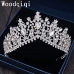Woodqiqi Simple Tiaras Hair Clips For Women Wedding Hair Accessories <b>Jewelry</b> Crown Vintage Bijoux Coroa