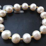 FREE SHIPPING>>>@@ 0505 natural white round freshwater pearl <b>bracelet</b>
