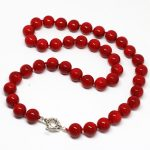 European style natural red sea coral 10mm lovely stone beautiful round beads diy necklace <b>jewelry</b> <b>making</b> 18inch MY5341