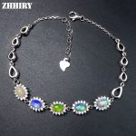 ZHHIRY Natural Opal <b>Bracelet</b> Solid 925 Sterling <b>Silver</b> Gem Stone Women Jewelry Fire Gems Color Prom Jewelry