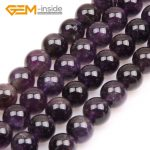 4mm-16mm Round Dark Purple Amethysts Beads Natural Stone Beads Loose Beads For <b>Jewelry</b> <b>Making</b> Beads Strand 15″ DIY Gifts! NEW!