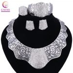 2017 sales African Nigerian Wedding Bridal Dubai Big <b>silver</b> Plated Jewelry Sets African Beads Jewelry Set Wholesale