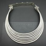 hot sell new – free shipping Tribal Exotic Chinese Handmade peculiar Jewelry 3-5row Miao <b>Silver</b> Carved veins <b>necklace</b>