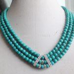 NEW Woman <b>jewelry</b> wholesale Hot Charming! new Turkey Stone 3Rows 6mm Green Round beads Necklace Girl <b>Jewelry</b> <b>Making</b> Design W0390