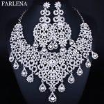 Moroccan style Statement Necklace Earrings set with Crystal Rhinestones Luxury Bride <b>Wedding</b> <b>Jewelry</b> sets