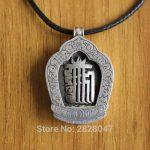 SL011 Ethnic Tibetan Sterling Silver 925 Mantra Kalachakra Men Prayer Box Gau Amulet Pendant Wholesale <b>Handmade</b> Nepalese <b>Jewelry</b>