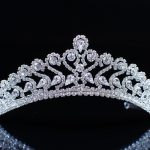 Floral Tiaras Brides Flower Handmade Crowns Clear Crystal Rhinestones Headband Headpiece Pageant Party Prom Hair <b>Jewelry</b>