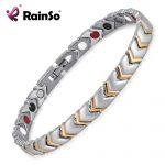 Rainso Titanium Health Power Bracelet Bangle For Women <b>Jewelry</b> with 4 Elements Magnet Couples <b>Accessories</b> OTB-034
