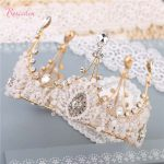<b>Handmade</b> crystal big size queen tiara crown Elegant Luxurious Bride Crown Headwear Rhinestone Bride fashion <b>Jewelry</b> RE622