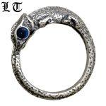 LT Animal 925 Sterling Silver Lizards Little Finger Ring Men Women <b>Handmade</b> Cool Blue Red Eyes Silver <b>Jewelry</b> For Male