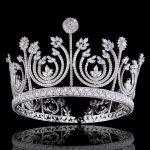 Stunning Crystal Rhinestone Cubic Zircon <b>Wedding</b> Tiara CZ Bridal Queen Princess Pageant Prom Crown Bridesmaid Party Head <b>Jewelry</b>