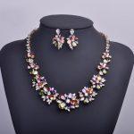 High Quality Stunning Evening Party <b>Jewelry</b> Sets Chic Earrings <b>Necklace</b> AAA CZ Zircon Kiss Letter Flower Bijuterias Auspicious