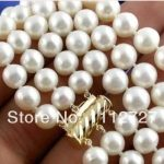 New Natural <b>Jewelry</b> Beads Pretty!3Rows 8-9mm White Pearl Necklace 17-19INCH Women Fashion <b>Jewelry</b> <b>Making</b> Design Wholesale Price