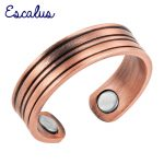 Escalus Classic Women <b>Antique</b> Copper Magnetic Ring Size Resizable Female Magnet Ladies Fashion <b>Jewelry</b> Finger Wear Charm