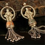 TBP671 Nepal Indian <b>handmade</b> vintage Tassel big pendants Genuine Tibetan Ethnic <b>Jewelry</b>