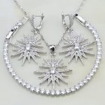 Leaves 925 Sterling Silver <b>Jewelry</b> White Cubic Zirconia Bridal <b>Jewelry</b> Sets For Women Wedding Earrings/Pendant/Necklace/Bracelet