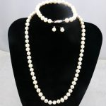 White pearl necklace set 6-7mm DIY beaded fish buckle necklace 18″ bracelet 7.5″ earrings 2 piece/lot Women <b>jewelry</b> <b>making</b> gift