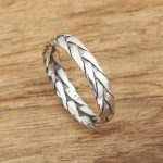 S925 factory wholesale silver <b>jewelry</b> <b>handmade</b> Thai silver retro ring twist knitting ring of male and female personality