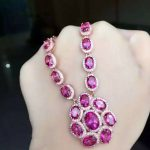 Natural pink topaz stone <b>Necklace</b> natural gemstone Pendant <b>Necklace</b> S925 Sterling <b>silver</b> trendy big round women party Jewelry