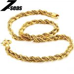 7SEAS Luxury Gold Color Chain Necklace Charm Attractive Men <b>Jewelry</b> Vintage Korean Style JM610