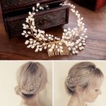 Luxury Vintage Bride Hair Accessories 100% Handmade Pearl Wedding Hair <b>Jewelry</b> Party Prom Bridal Starry Hair Combs Pearl Tiara