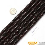 4x7mm Rondelle Spacer Garnet Beads Natural Stone Beads Loose Beads For <b>Jewelry</b> <b>Making</b> Strand 15 Inch Wholesale